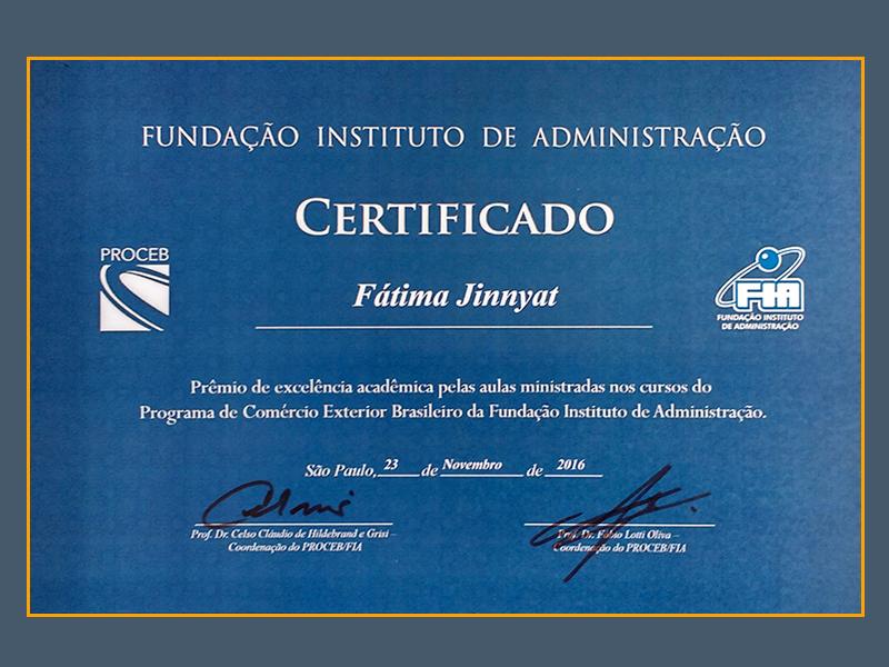 Fatima Jinnyat - Homenagem FIA